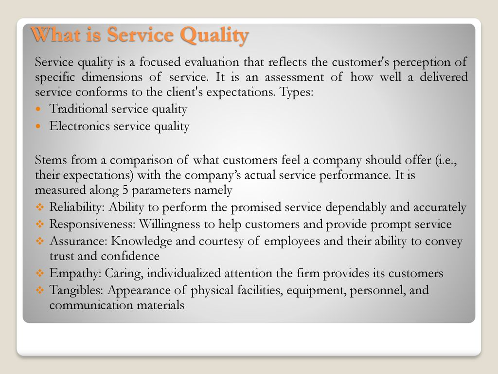 What Is Service Quality Ppt Download