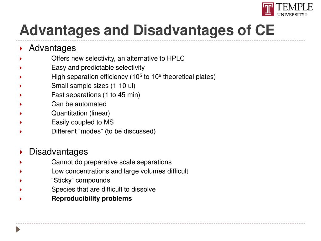 Chromatographic methods of analysis: advantages and disadvantages 48