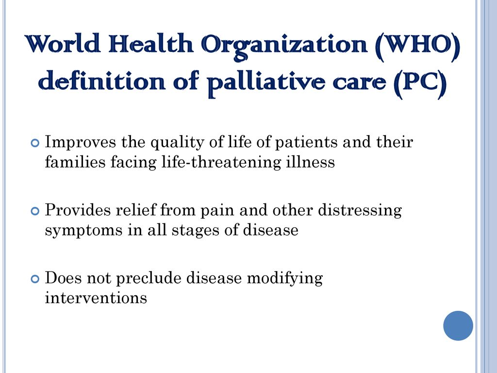 overview of hospice and palliative care - ppt download