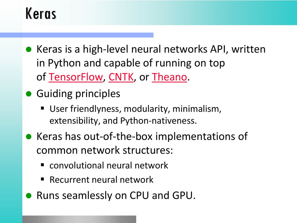 Deep Learning Libraries - ppt download