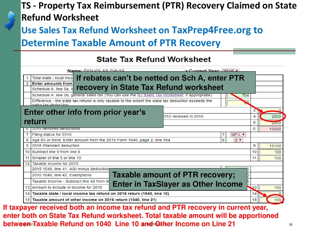 Property Tax Rebates Recoveries Ptr Homestead Benefit