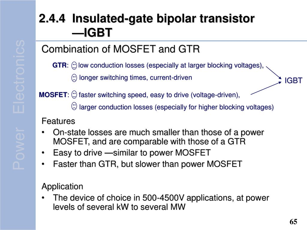 Question1what Is Power Electronic Converting Technology Ppt Download Igbt Insulated Gate Bipolar Transistors 244 Transistor