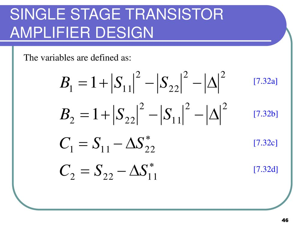 Ekt 441 Microwave Communications Ppt Download Transistor Amplifier A Circuit Diagram B Schematic Design Single Stage