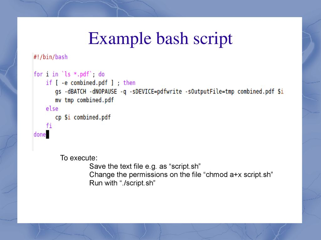 Lecture 11 bash scripting overview c programming overview
