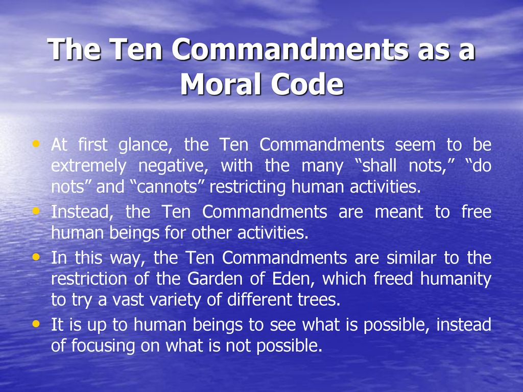 The Morality Of The Ten Commandments Ppt Download