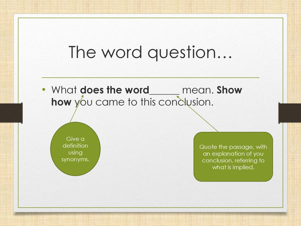 what does the word conclusion