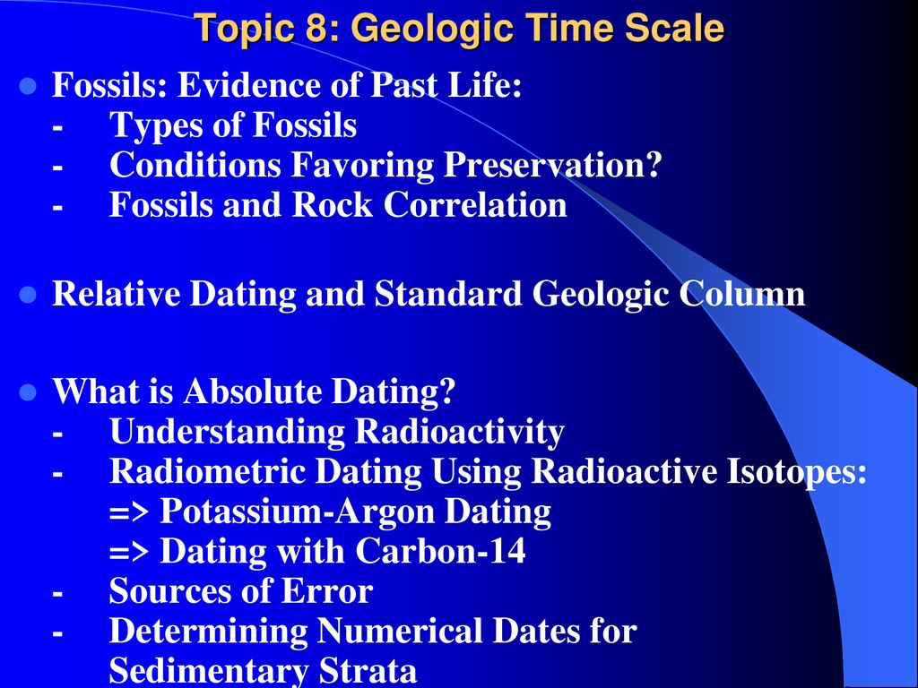 How is the geologic column used in relative dating methods