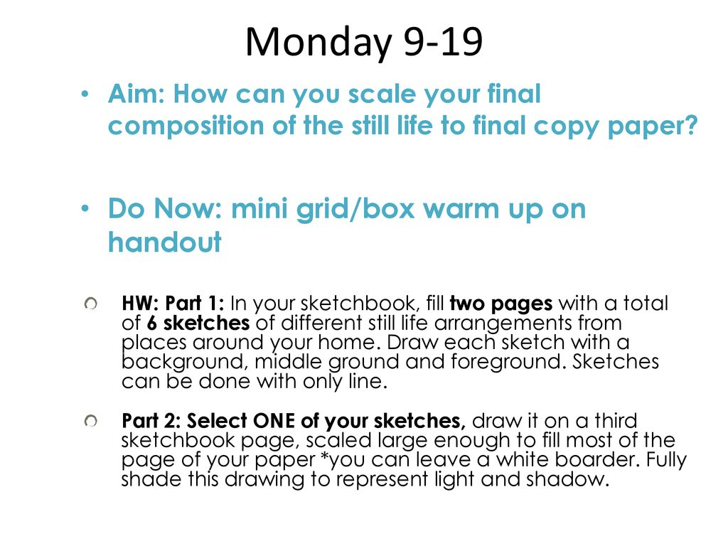 drawing and painting daily plans sept ppt download