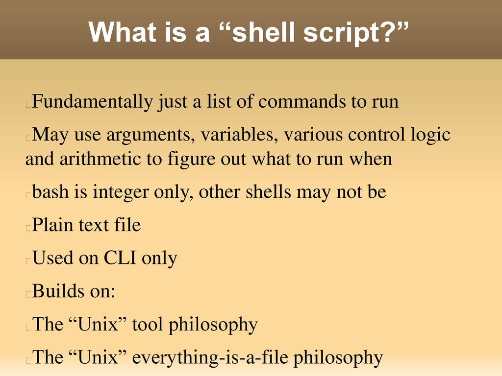 Bash 101 Intro to Shell Scripting