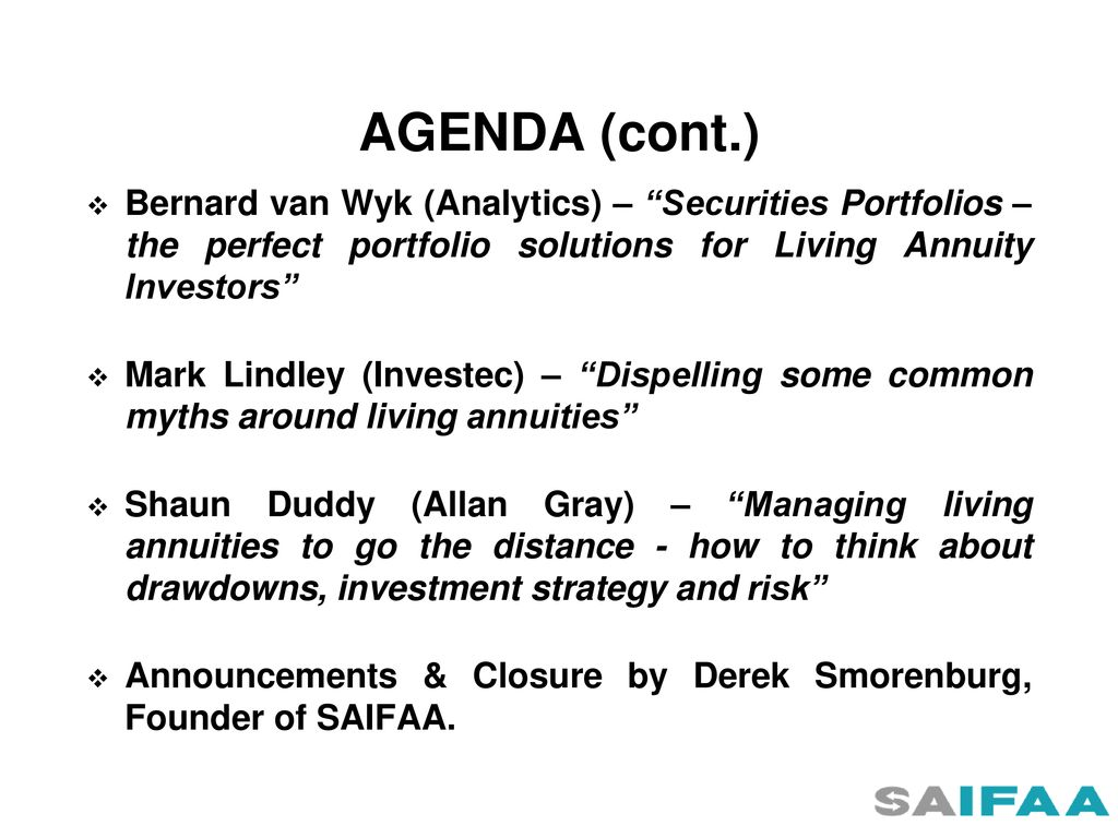 south african independent financial advisors association ppt download