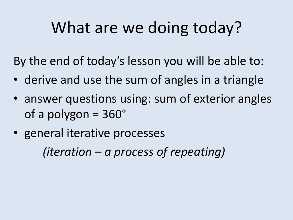 GCSE Maths Lesson 9 Finishing Geometry for the time being - ppt download