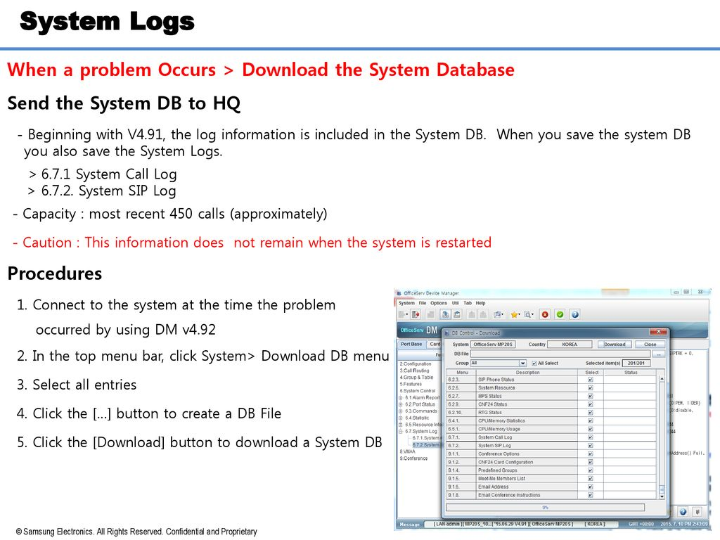 OfficeServ System Logs & MP Trace - ppt download