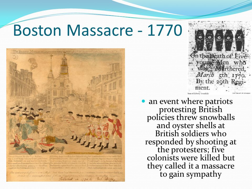 Boston Massacre - 1770