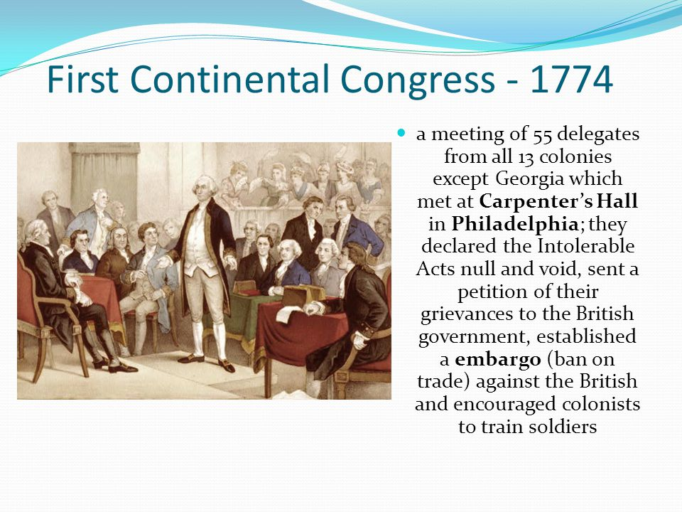 First Continental Congress - 1774