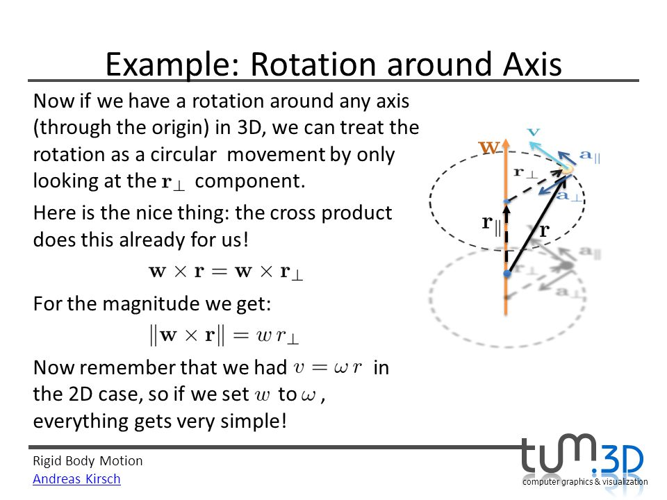 Example: Rotation around Axis