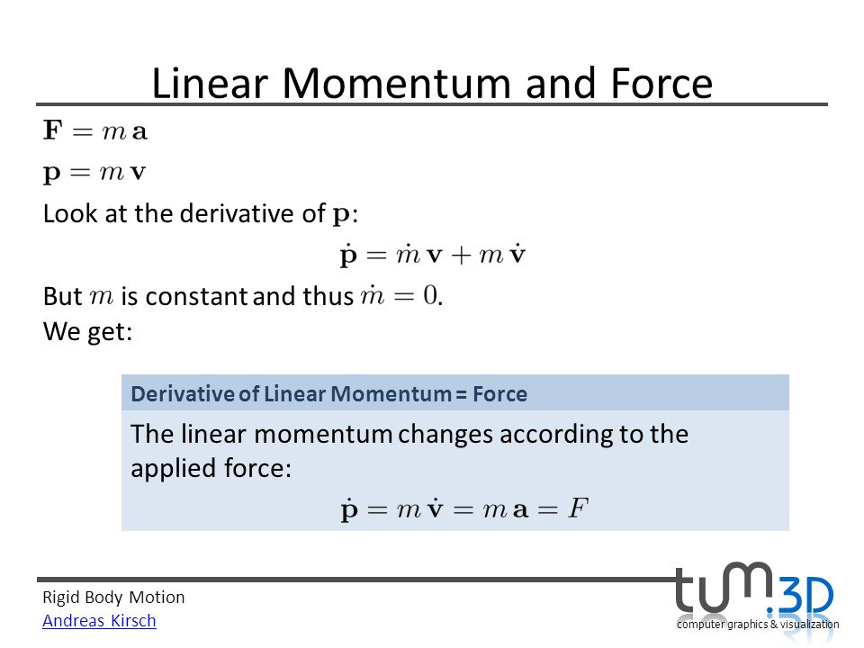 Linear Momentum and Force