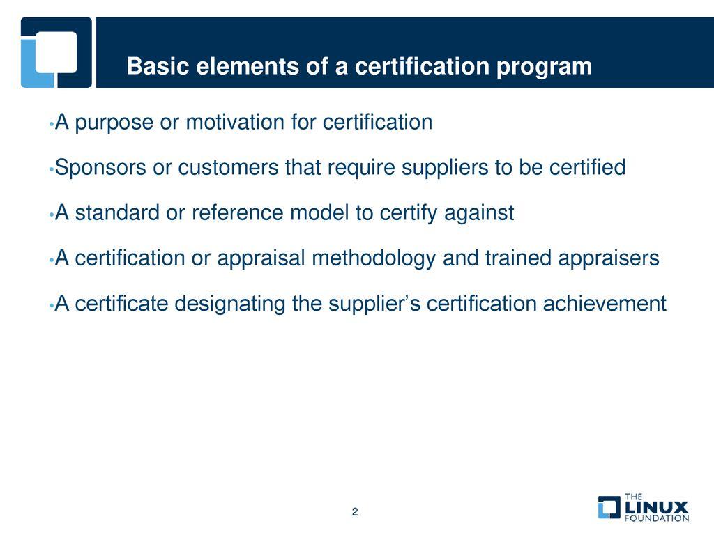 Foss Compliance Certification Program Ppt Download