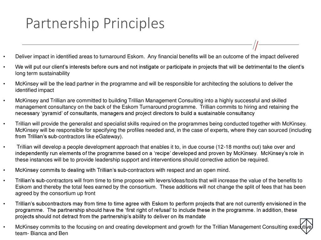 Supplier Development partnership with McKinsey & Company