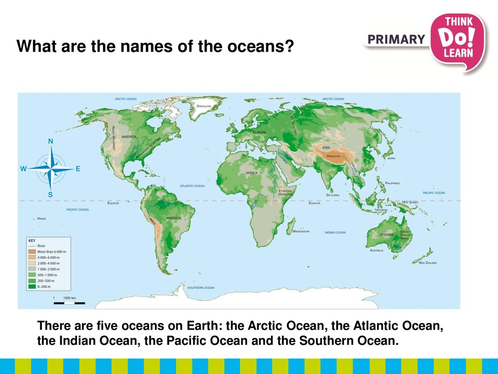 What are the oceans