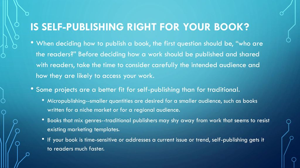 Self-publishing: getting started Adapted from LIBRARIES PARTNERING ...