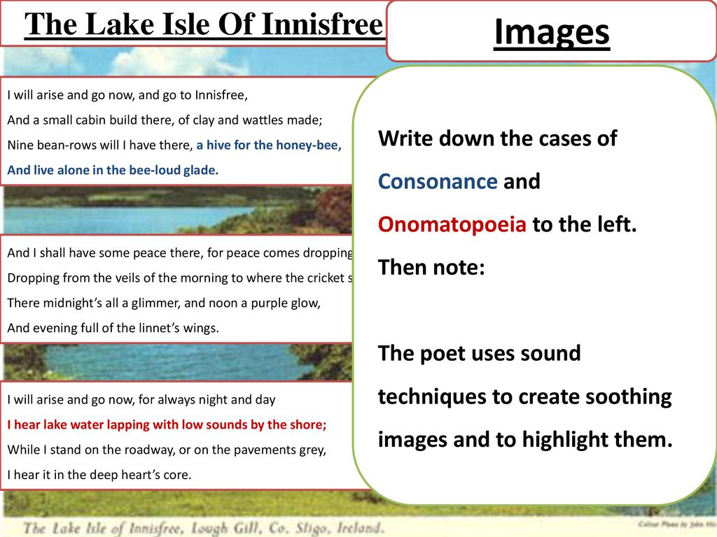 Examine The Theme Of Nature Warm Up Picture On Next Page Ppt Download Paraphrase Poem Lake Isle Innisfree