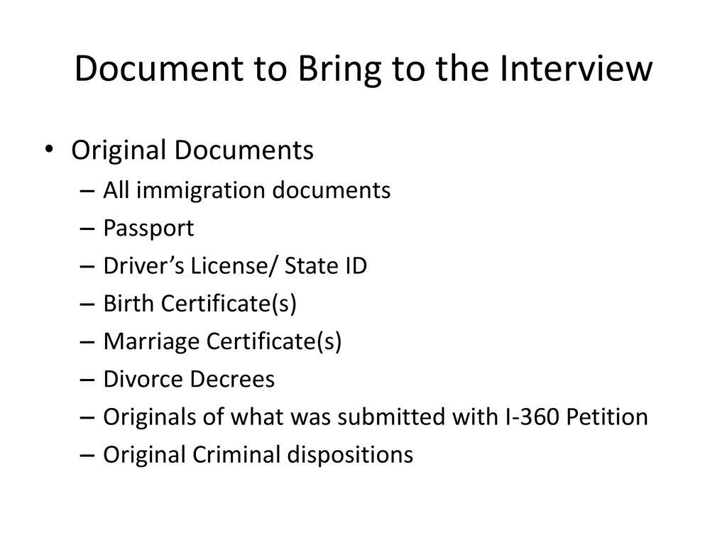 I 485 Application Interviews Ppt Download