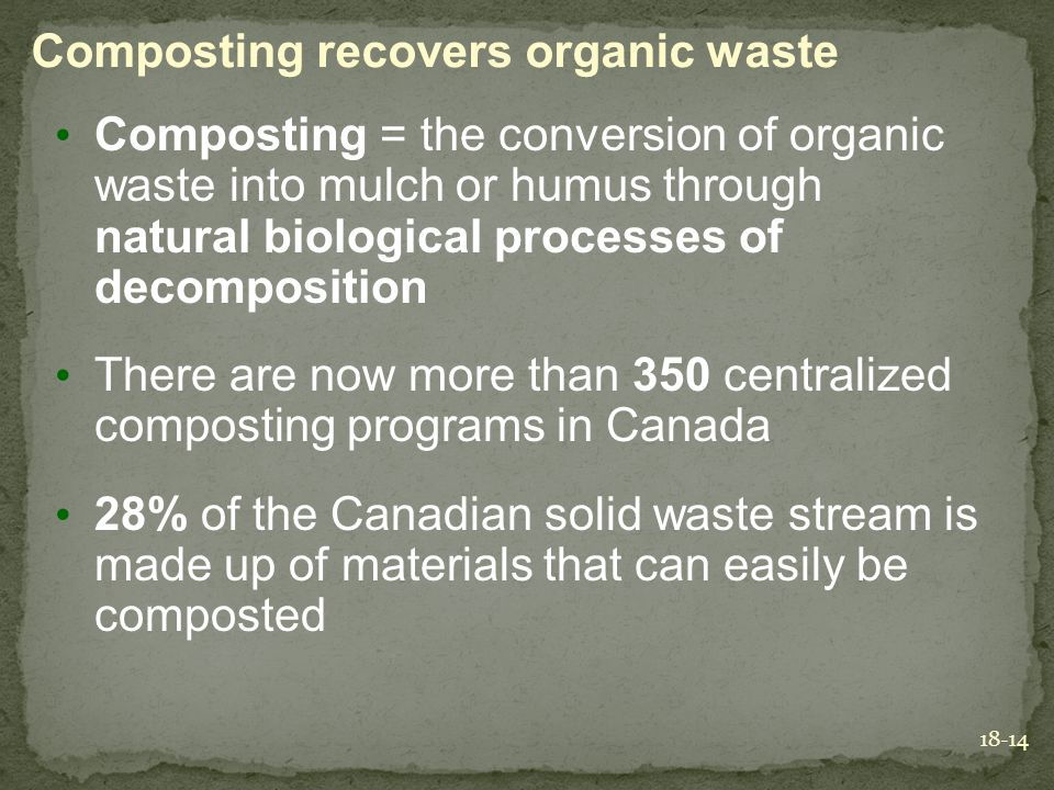Composting recovers organic waste