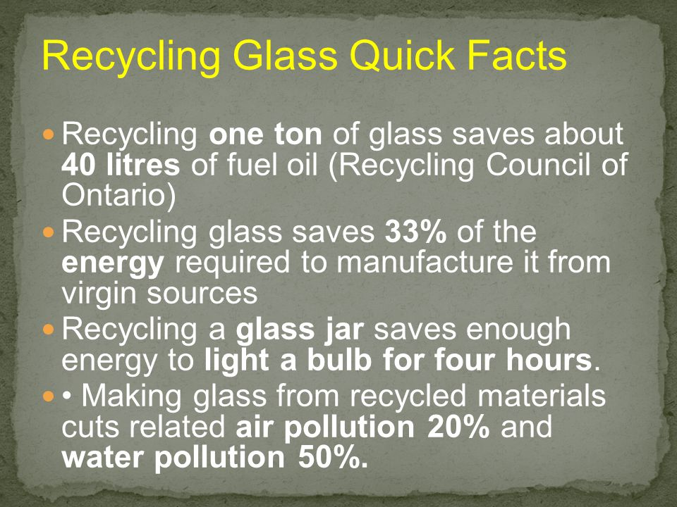 Recycling Glass Quick Facts