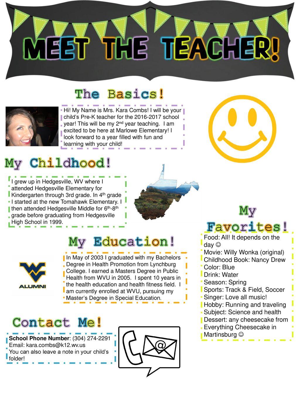 The Basics! My Childhood! My Favorites! My Education