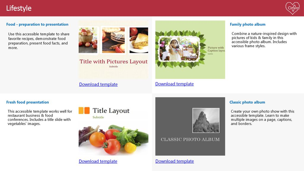 accessible template showcase ppt download