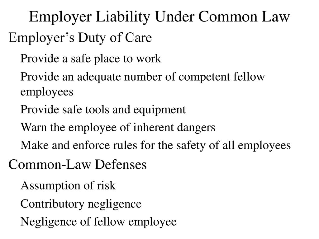 Employee and Employer Liability 86