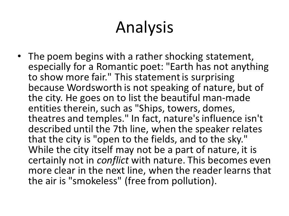 Sonnet Composed Upon Westminster Bridge Ppt Download