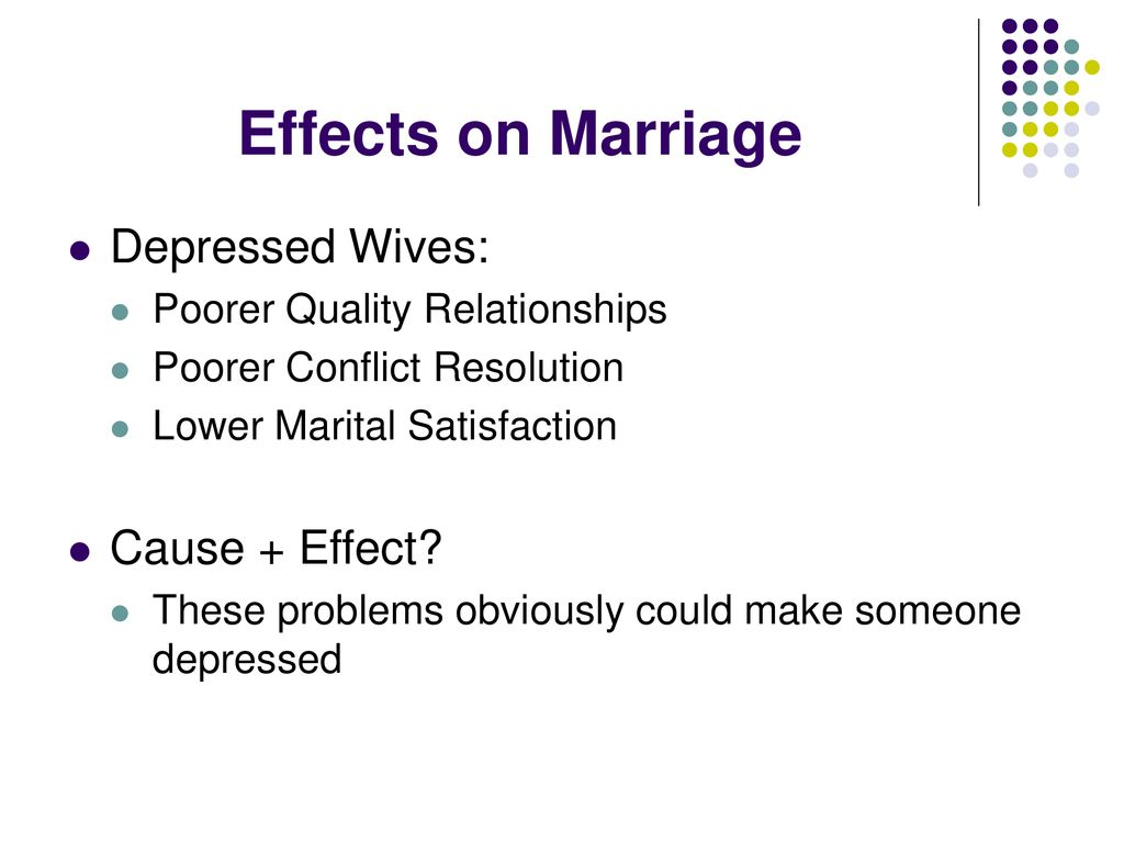 marriage causing depression