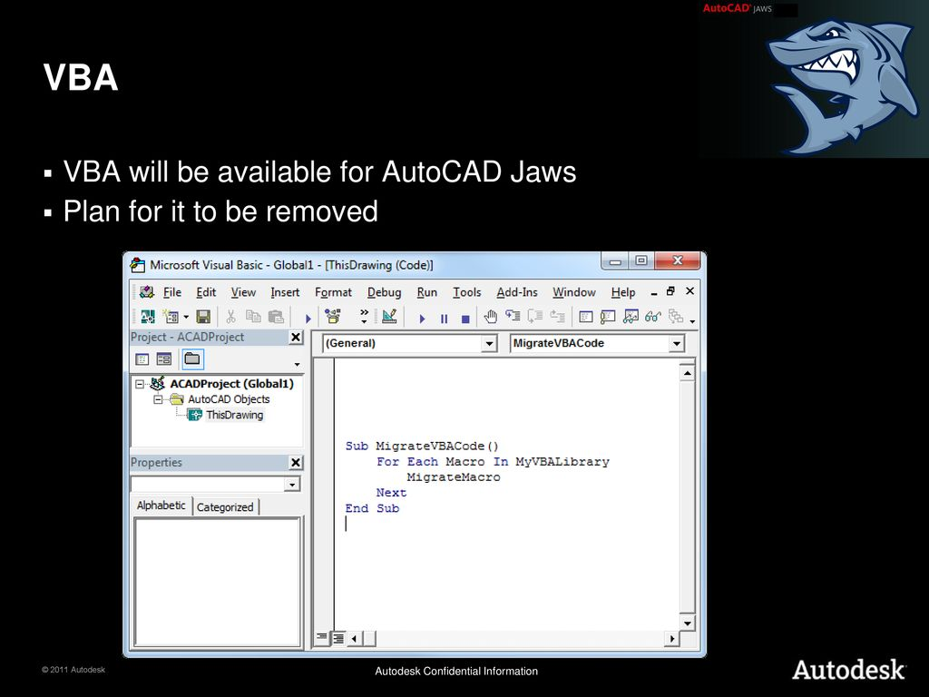 AutoCAD Jaws - Migration and new APIs - ppt download