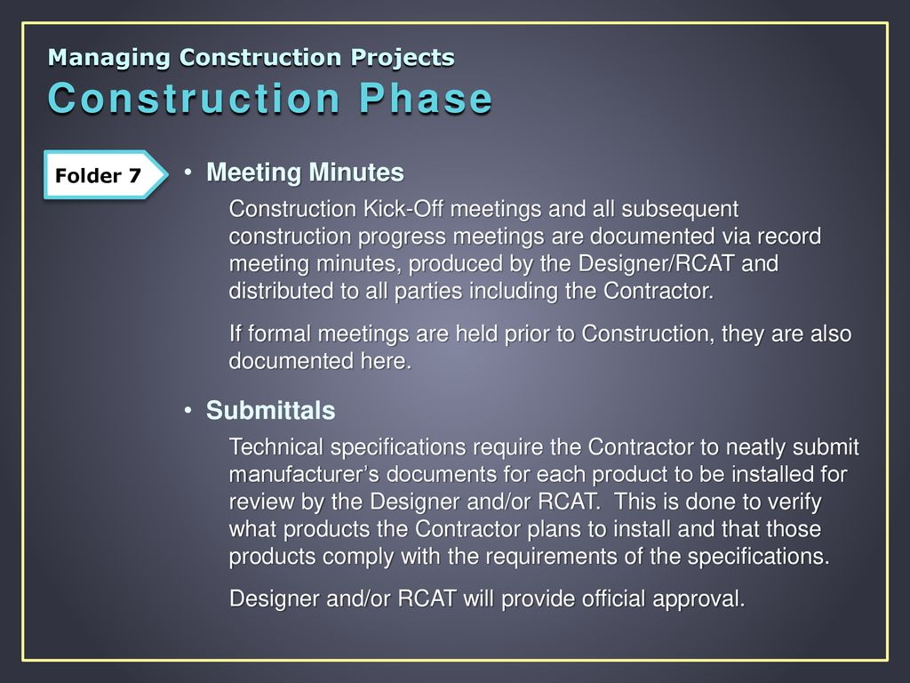 managing construction projects ppt download