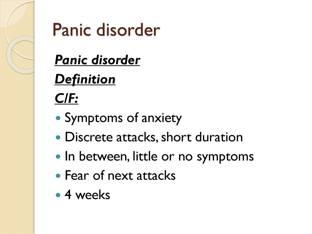 anxiety disorders. - ppt download