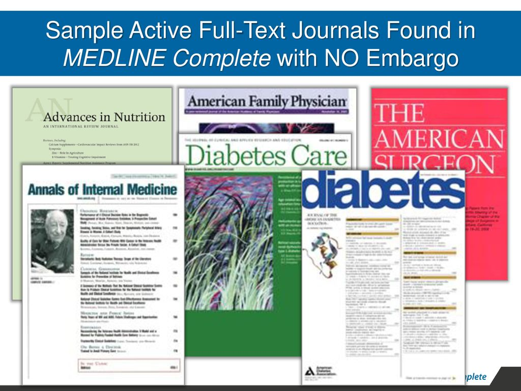 MEDLINE Complete is the world's largest full-text companion to