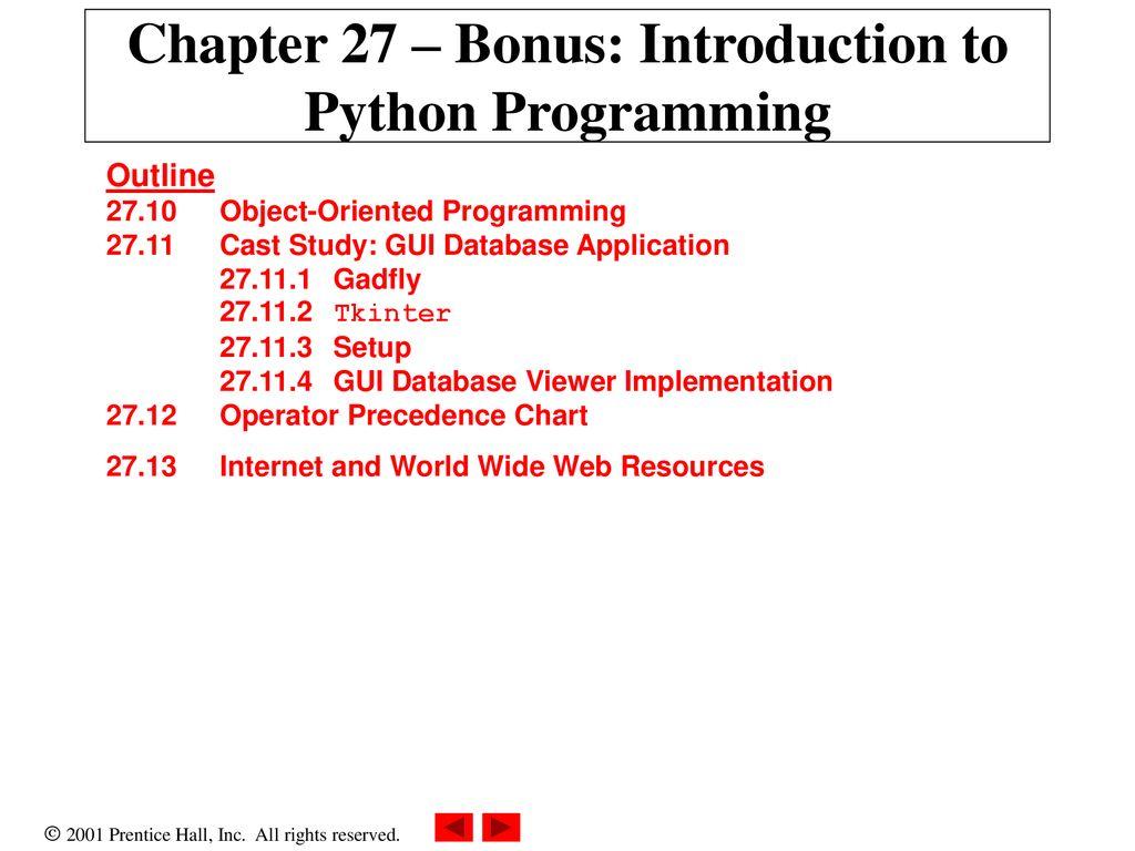 Chapter 27 – Bonus: Introduction to Python Programming - ppt