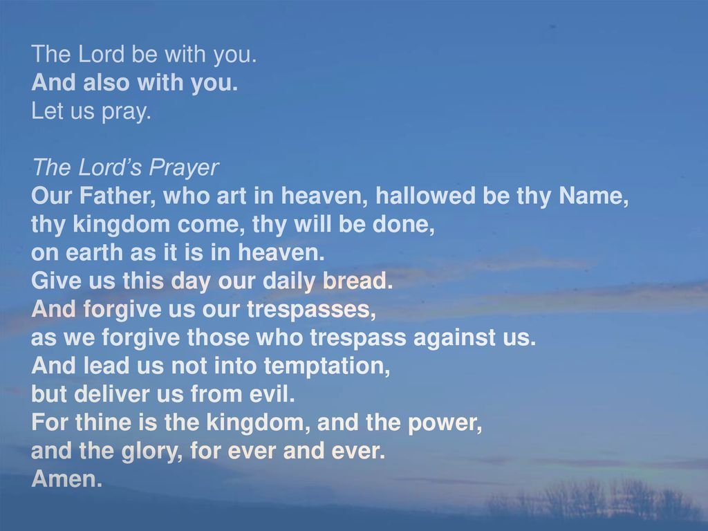From the Book of Common Prayer - ppt download