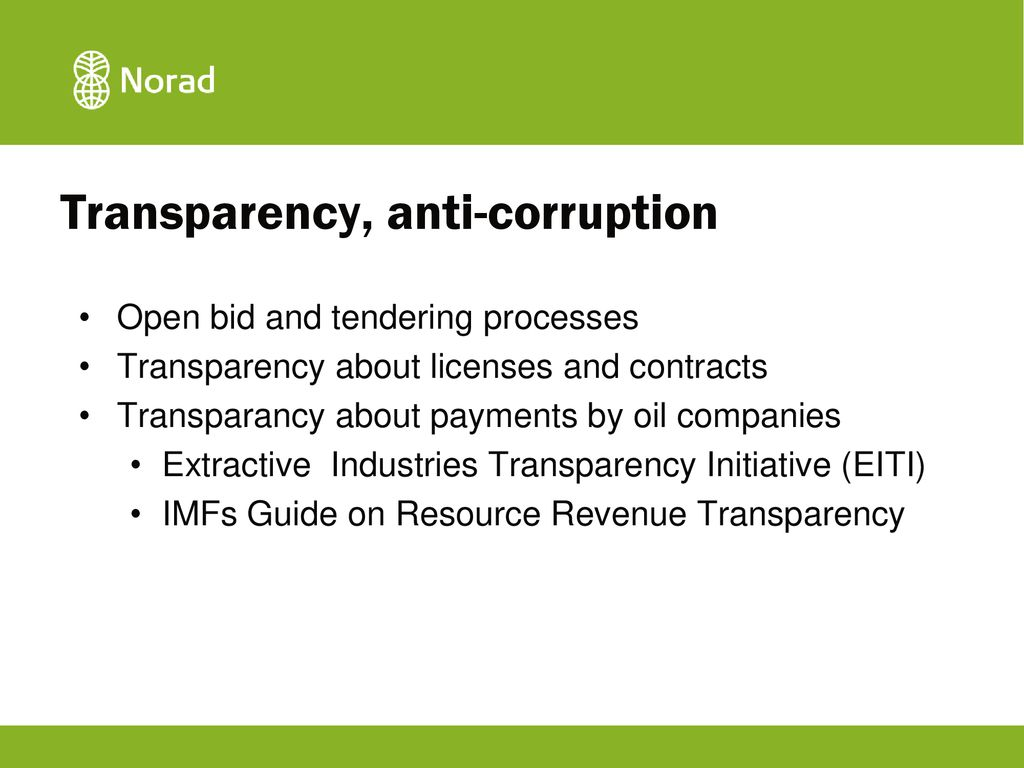 13 Transparency ...