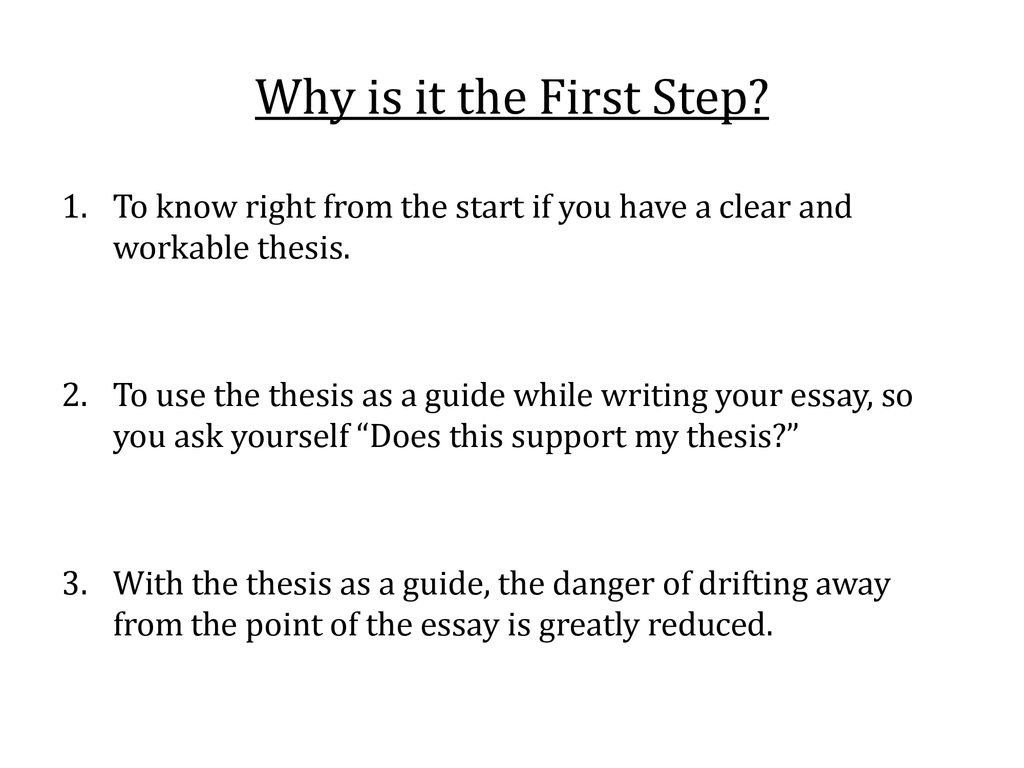 Writing An Effective Thesis Statement - Ppt Download