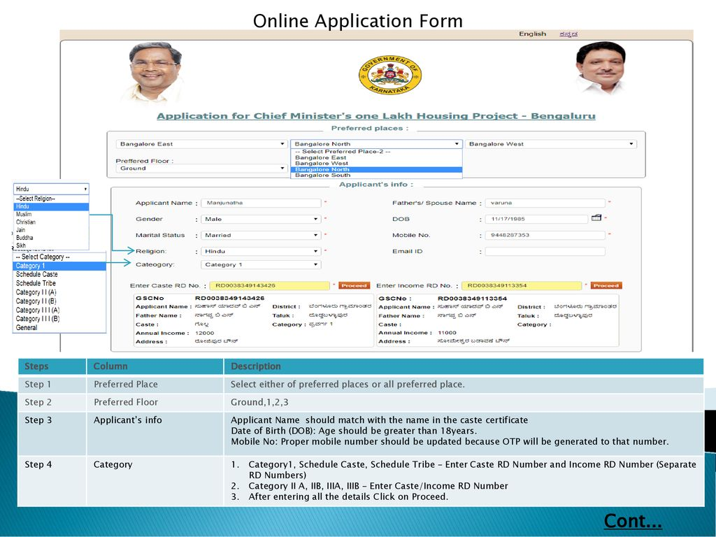 DOCUMENTS REQUIRED: Sl No Details 1 Caste Certificate ( RD