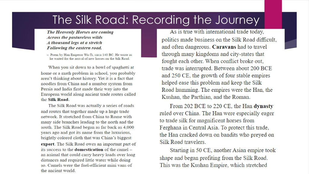the silk road recording the journey mini q answers