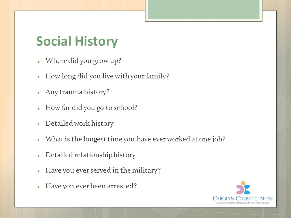 Social History Where did you grow up
