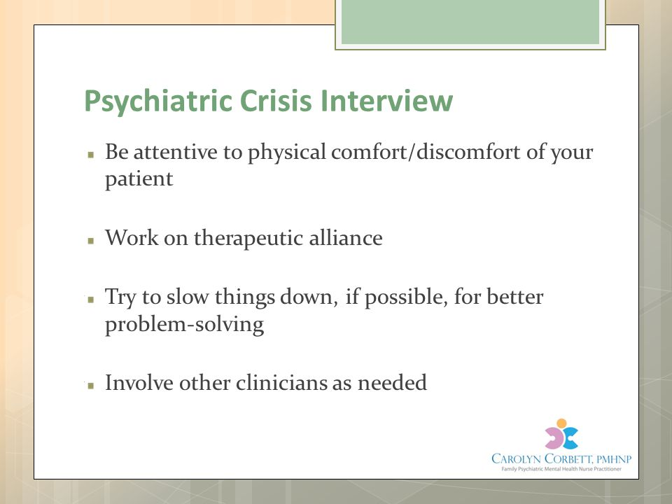 Psychiatric Crisis Interview