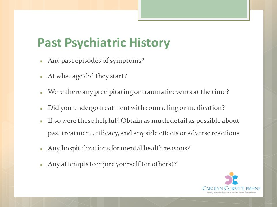 Past Psychiatric History