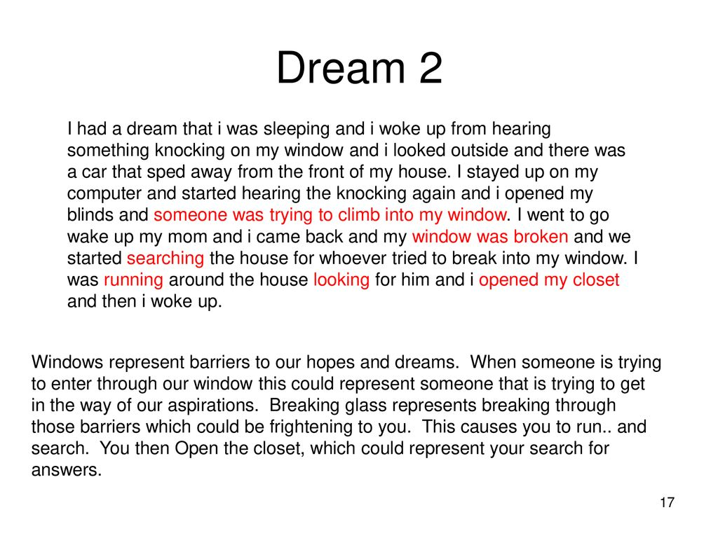 Results For Dream Of Someone Knocking On My Window