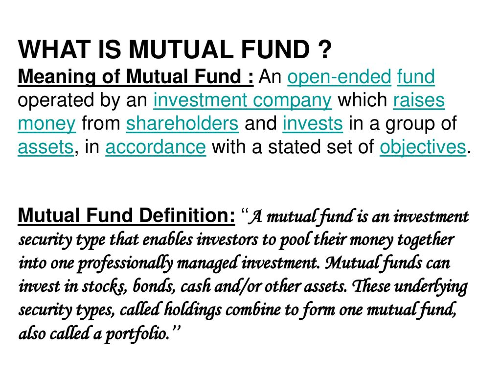 "a project report on ""mutual fund is the better. - ppt download"