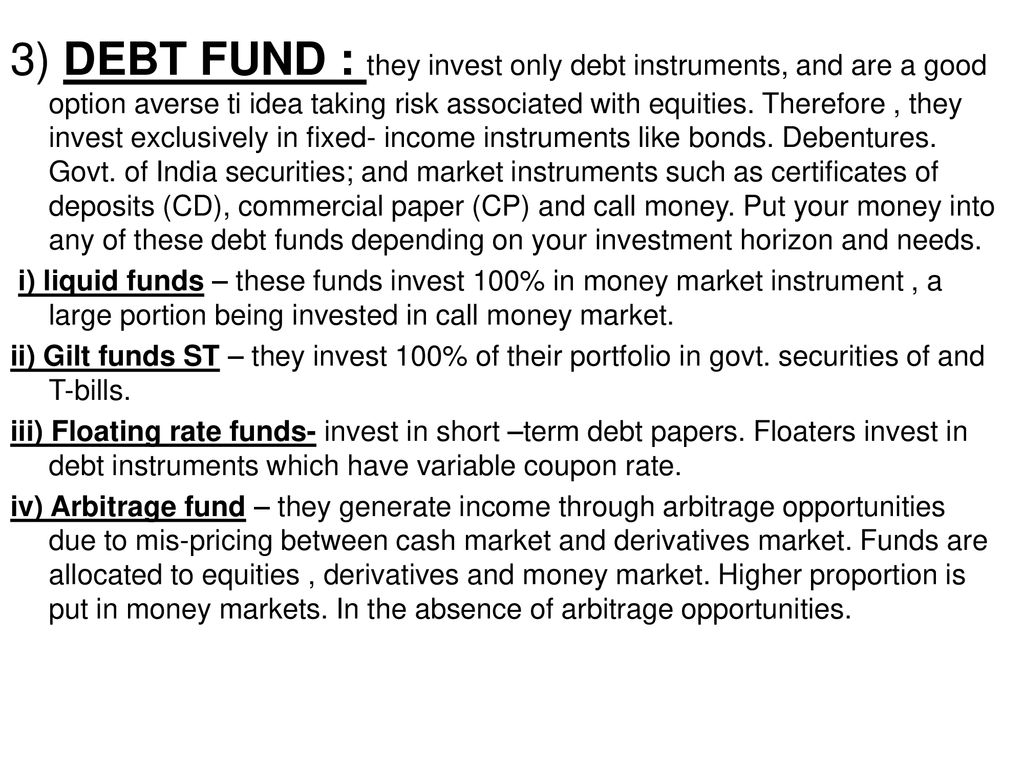 A Project Report On Mutual Fund Is The Better Ppt Download