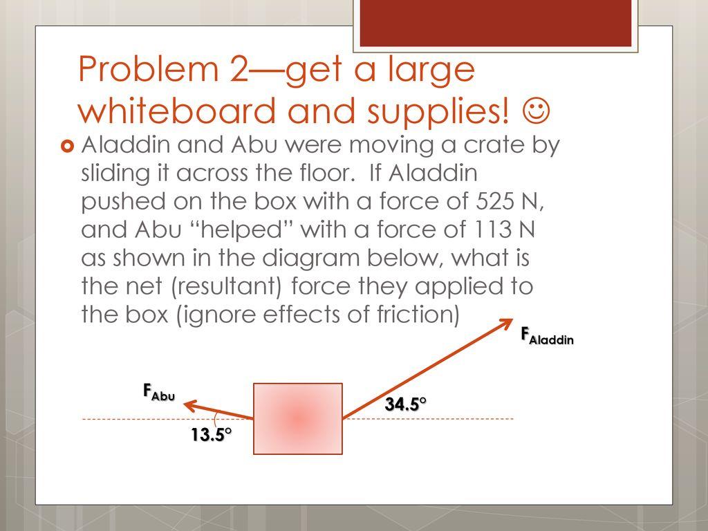 Vector Addition Practice Problems Ppt Download Abu Box Slide 3 Problem